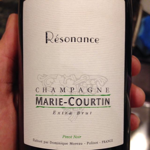 Résonance Extra Brut Champagne Pinot Noir 2012