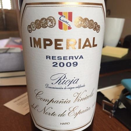 C.V.N.E. (Compañía Vinícola del Norte de España) Imperial Reserva Rioja Tempranillo Blend 2012