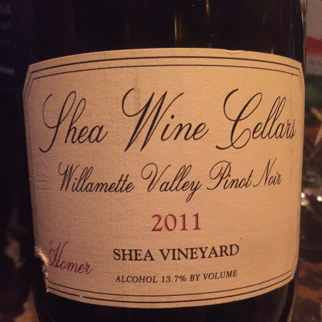 Shea Vineyard Homer Pinot Noir 2011