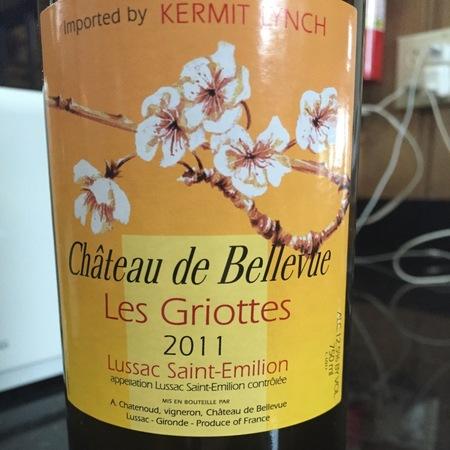 Chateua de Bellevue Les Griottes Lussac Saint Emilion Red Bordeaux Blend 2010 (1500ml)