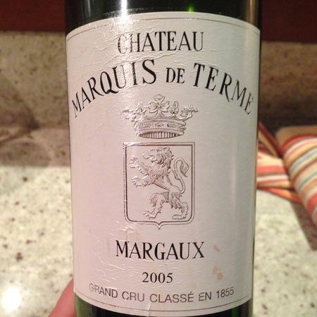 Château Marquis de Terme Margaux Red Bordeaux Blend 2005