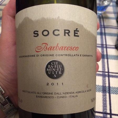 Socré Barbaresco Nebbiolo 2011