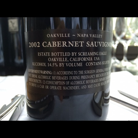Screaming Eagle Oakville Cabernet Sauvignon 2002