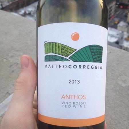 Azienda Agricola Matteo Correggia Anthos Vino Rosso Brachetto 2016