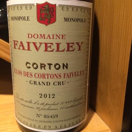 Domaine Faiveley (Joseph Faiveley) Clos des Cortons Faiveley Monopole  Grand Cru Pinot Noir 2012