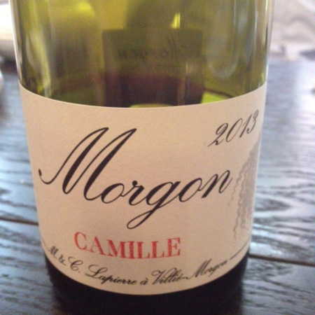 Marcel Lapierre Camille Morgon Gamay 2016
