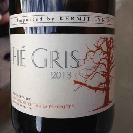 Domaine de l'Aujardière (Eric Chevalier) Vin de Pays du Jardin Fié Gris 2013