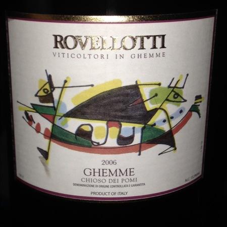 Rovellotti Chioso Dei Pomi Ghemme Nebbiolo 2009