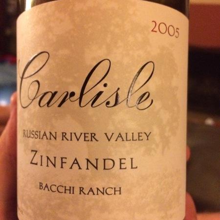 Carlisle Winery & Vineyards Bacchi Ranch Zinfandel 2006