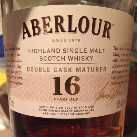 Aberlour 16 Years Old Double Cask Matured Highland Single Malt Scotch Whisky NV