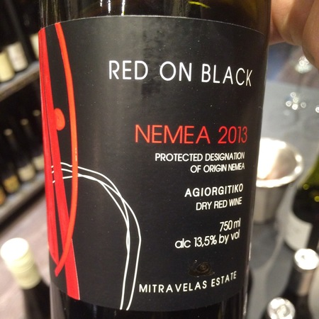Mitravelas Estate Red on Black Nemea Agiorgitiko 2015