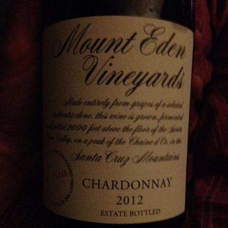 Mount Eden Vineyards Estate Bottled Santa Cruz Mountains Chardonnay 2012