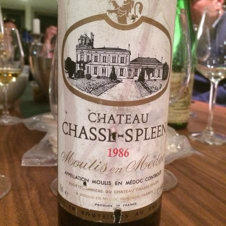 Château Chasse-Spleen Moulis en Médoc Red Bordeaux Blend 1986