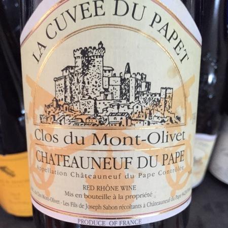 Clos du Mont-Olivet La Cuvée du Papet Châteauneuf-du-Pape Red Rhone Blend 2015