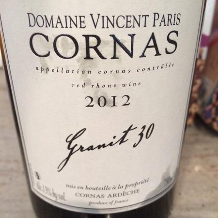 Domaine Vincent Paris Granit 30 Cornas Syrah 2015