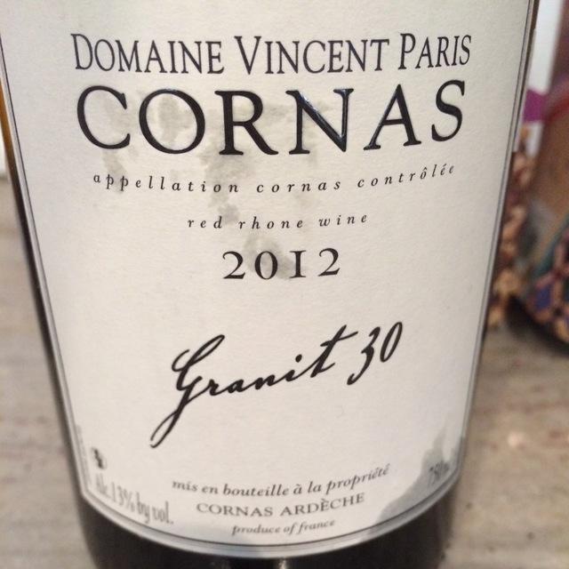 Granit 30 Cornas Syrah 2014