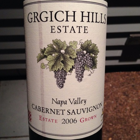 Grgich Hills Estate Estate Grown Napa Valley Cabernet Sauvignon 2006