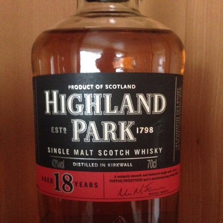 Highland Park Distillery Aged 18 Years Single Malt Scotch Whisky NV