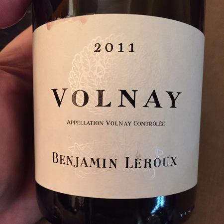 Benjamin Leroux Volnay Pinot Noir 2015