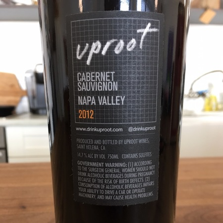Uproot Wines Cabernet Sauvignon 2012