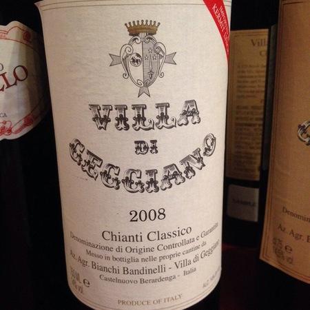 Villa di Geggiano Chianti Classico Sangiovese Blend 2012