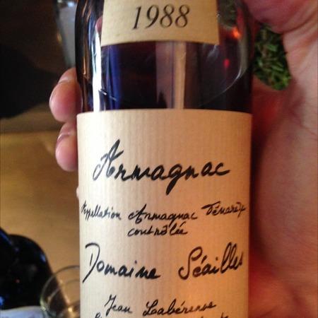 Domaine Seailles Armagnac 1988