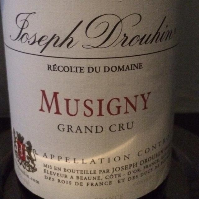 Musigny Grand Cru Pinot Noir 2009