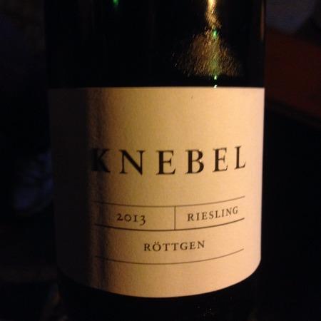 Weingut Knebel Röttgen Riesling 2015