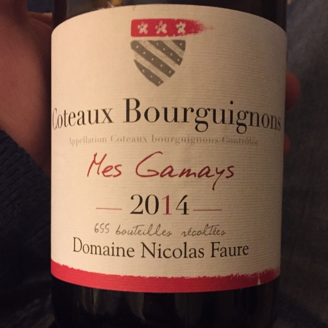 Mes Gamays Coteaux Bourguignons Gamay 2014