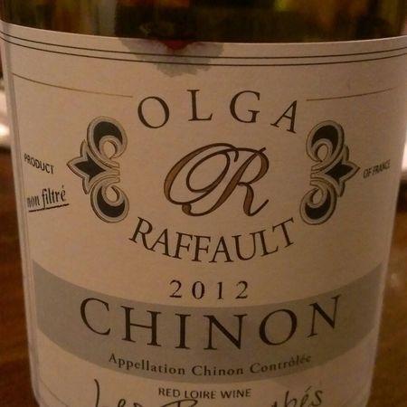 Olga Raffault Les Picasses Chinon Cabernet Franc 2012