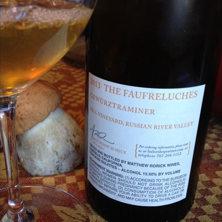 Forlorn Hope The Faufreluches Hill Vineyard Gewürztraminer 2013