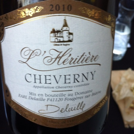 Delaille  Domaine du Salvard Cheverny L'Heritiere Sauvignon Blanc Chardonnay 2016