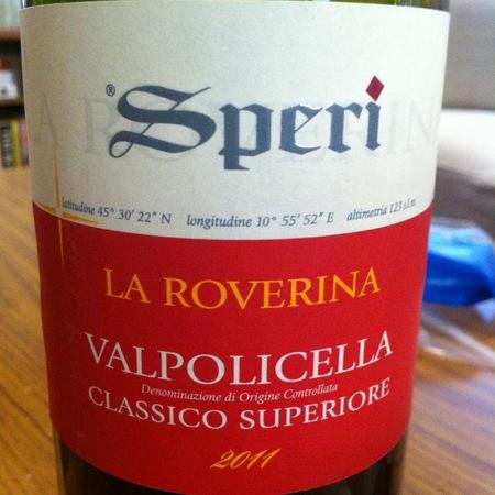 Speri La Roverina Valpolicella Classico Superiore Corvina Blend 2015