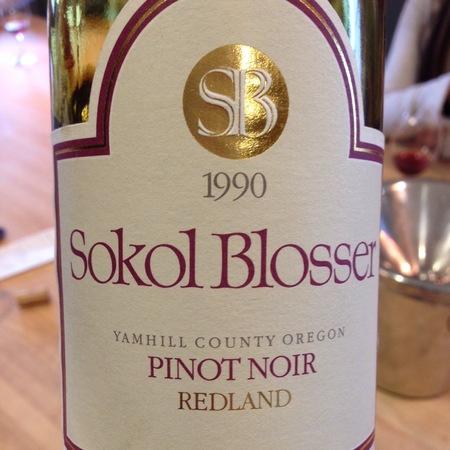 Sokol Blosser Redland Pinot Noir 1990