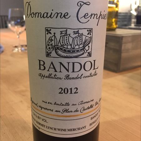 Domaine Tempier Bandol Rouge Mourvedre Blend 2015