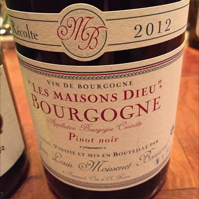 Les Maisons Dieu Bourgogne Pinot Noir 2013