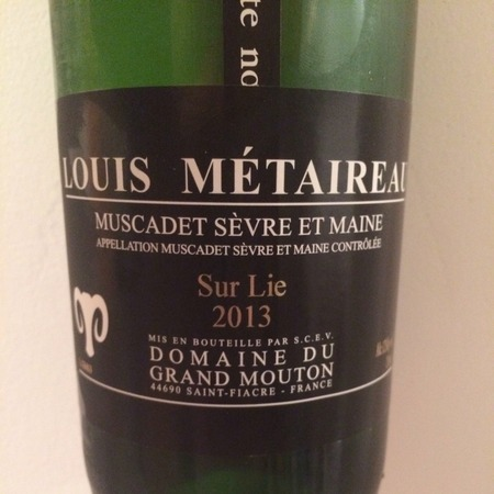 Louis Metaireau Grand Mouton Muscadet de Sèvre-et-Maine Melon de Bourgogne 2015