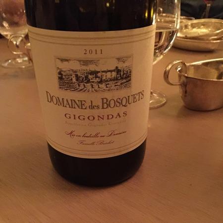 Domaine des Bosquets Gigondas Red Rhône Blend 2014