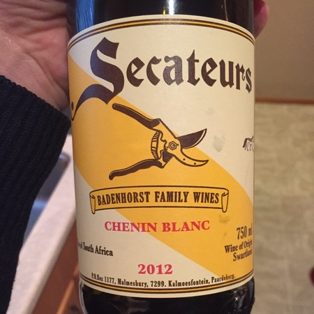A.A. Badenhorst Family Wines Secateurs Swartland Chenin Blanc 2016