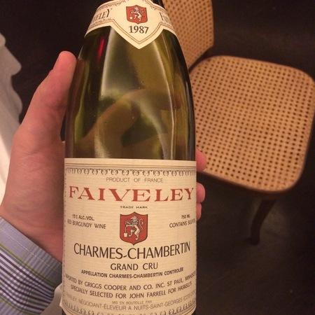 Domaine Faiveley (Joseph Faiveley) Charmes-Chambertin Grand Cru Pinot Noir 1987