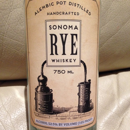 Sonoma County Distilling Sonoma Rye Whiskey NV