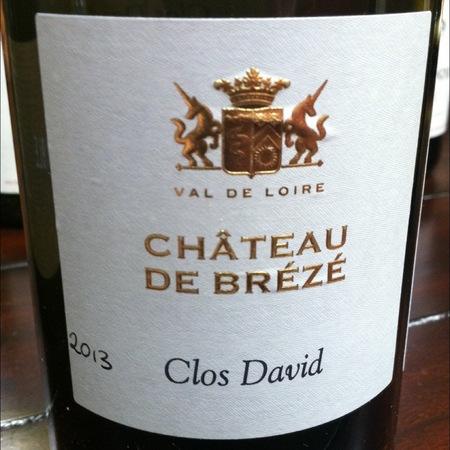 Château de Brézé Clos David Saumur Blanc Chenin Blanc 2013