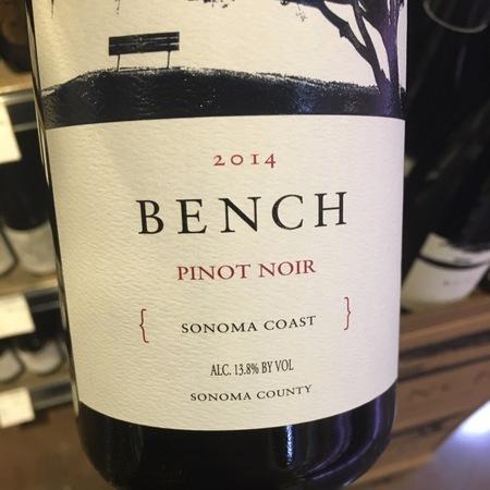 Brack Mountain Wine Company Bench Sonoma Coast Pinot Noir 2014