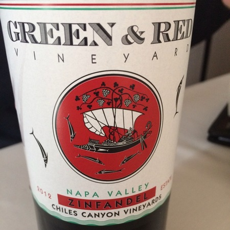 Green & Red Vineyards Chiles Canyon Vineyards Zinfandel 2014