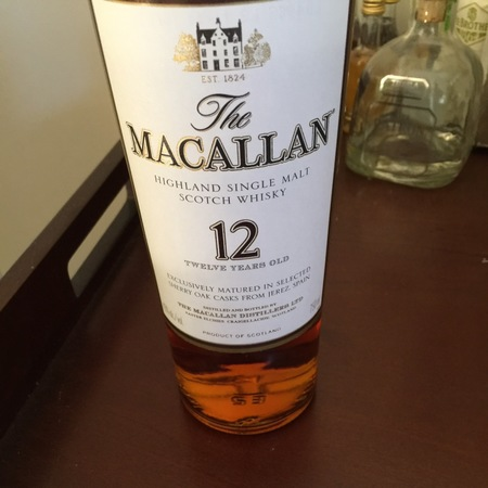 Macallan Distillery 12 Years Old Highland Single Malt Scotch Whisky NV