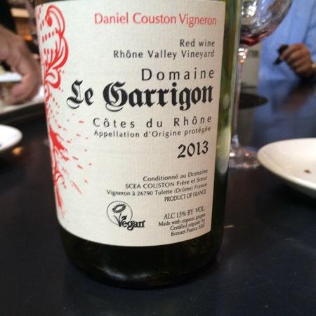 Domaine Le Garrigon Côtes du Rhône Red Blend 2014 (3000ml)