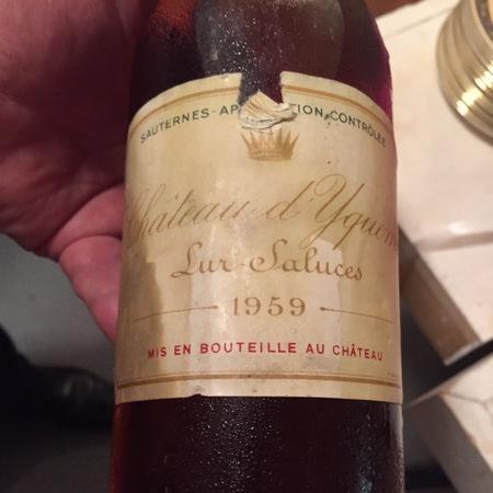 Château d'Yquem Sauternes Sémillon-Sauvignon Blanc Blend 1959