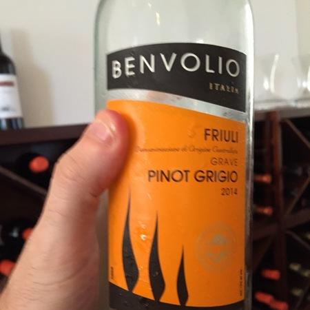 Benvolio Friuli Grave Pinot Grigio 2014