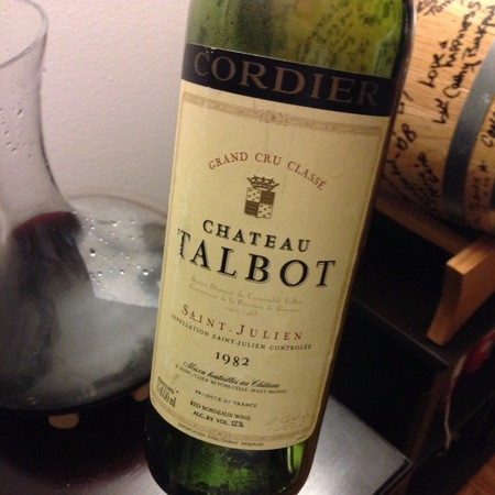 Château Talbot Saint-Julien Red Bordeaux Blend 1982