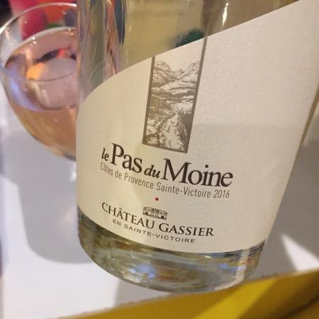 Château Gassier Le Pas du Moine Sainte Victoire Rosé Blend 2016